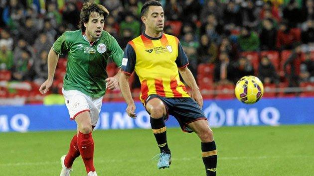 Xavi Hernández frente Euskadi.