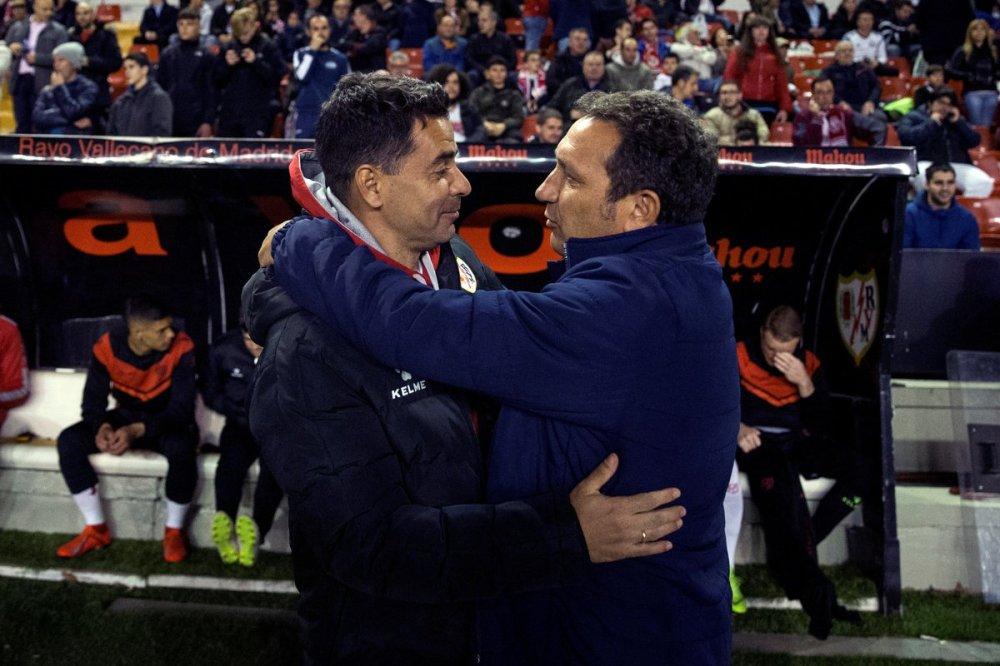Michel junto a Eusebio en el Rayo - Girona