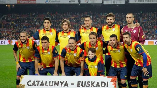 Once de Catalunya contra Euskadi.